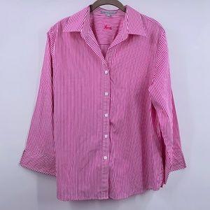 FOXCROFT Shaped Fit Shirt Size 14 Wrinkle Free